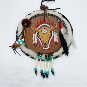 Southwest Native American Leather Dreamcatcher